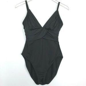 La Blanca by Rod Beattie Black One Piece Swimwear
